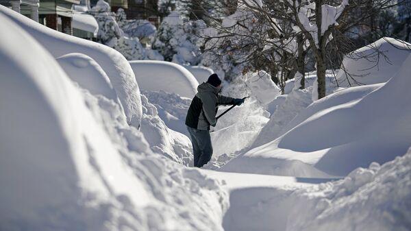 Снег в Нью-Джерси