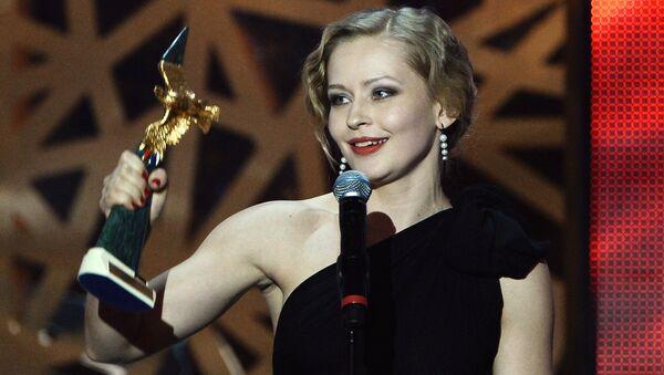 Актриса Юлия Пересильд, победившая в номинации Лучшая женская роль в кино