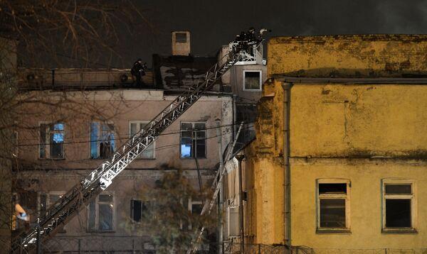 Пожар на швейном предприятии на востоке Москвы