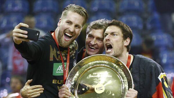Мужская сборная Германии взяла верх над командой Испании в финале чемпионата Европы по гандболу