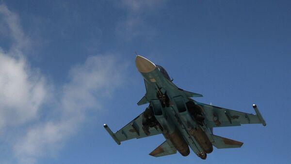 Российский истребитель-бомбардировщик Су-34. Архивное фото