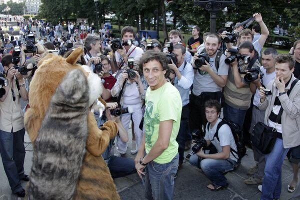 Участник шоу Comedy Club Вадим Галыгин на премьере мультфильма Ледниковый период-3