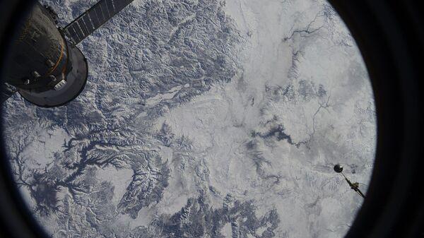 Вид Земли с Международной космической станции. Архивное фото