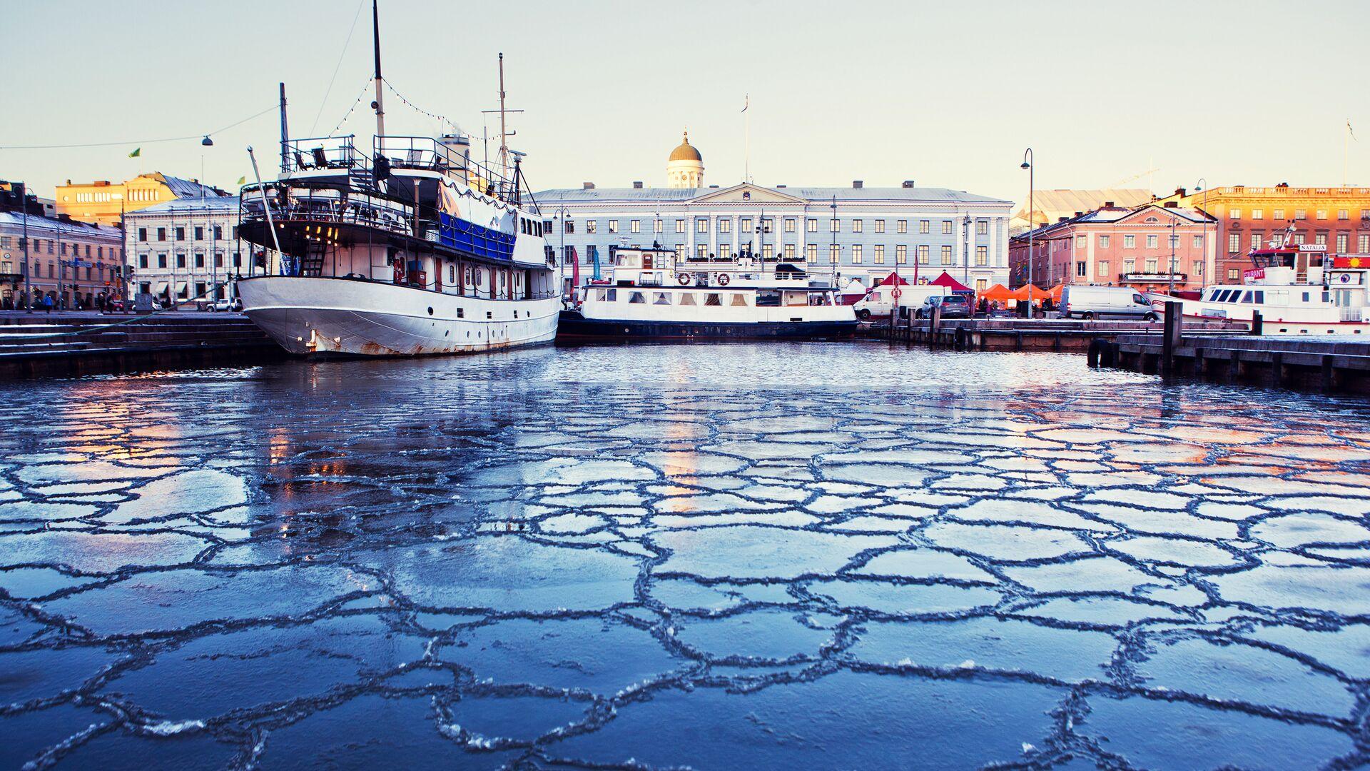 Вид на порт в центре Хельсинки, Финляндия - РИА Новости, 1920, 01.04.2021