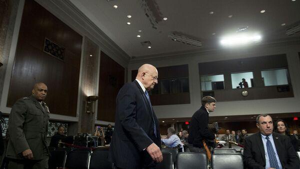 Директор национальной разведки США Джеймс Клэппер на слушаниях в американском сенате. Архивное фото