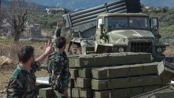 Артиллеристы сирийской армии