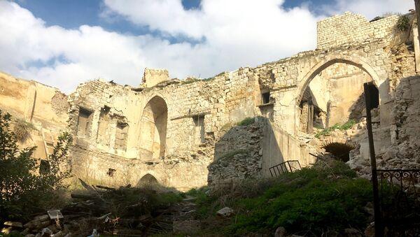 Развалины в Алеппо, Сирия. Архивное фото