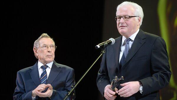Постоянный представитель РФ при ООН и в Совете Безопасности ООН В.Чуркин на церемонии вручения премии Фемида