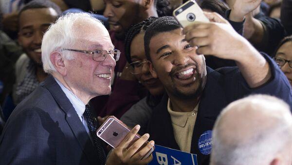 Кандидат в президенты США демократ Берни Сандерс. Архивное фото