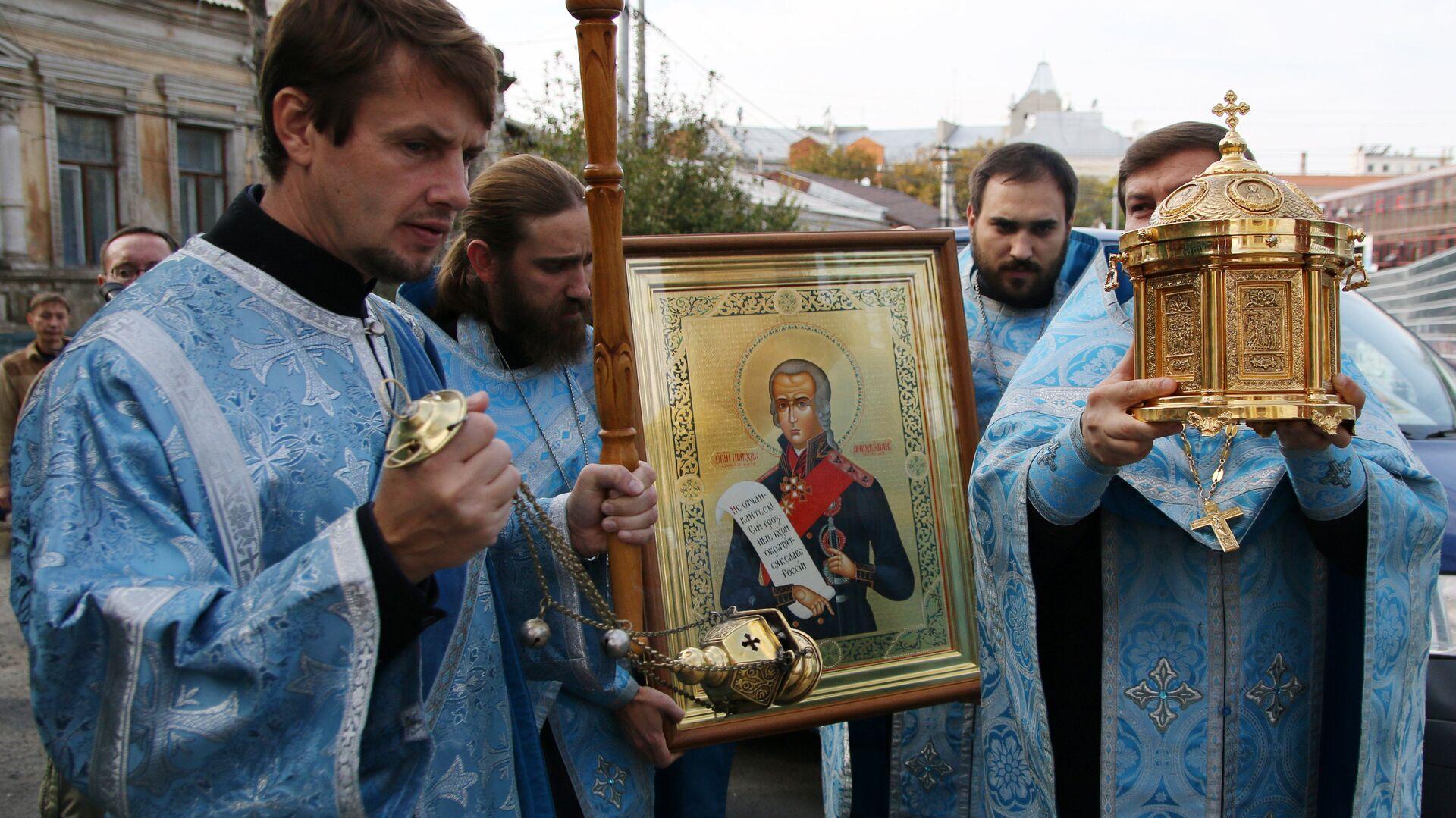 Мощи святого Федора Ушакова доставили в Крым - РИА Новости, 1920, 05.08.2021