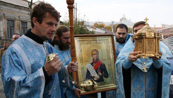 Мощи святого Федора Ушакова. Архивное фото.