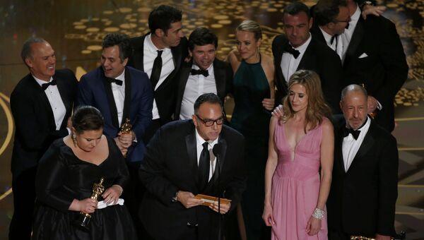 Команда фильма В центре внимания на вручении Оскара