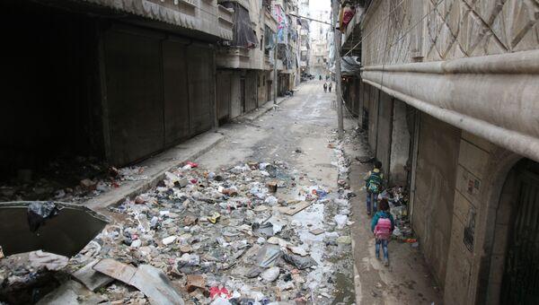 Улицы города Алеппо, Сирия. Архивное фото