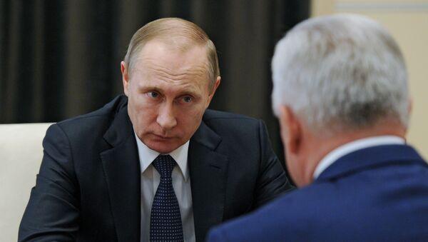 Рабочая встреча президента РФ В. Путина главой Бурятии В. Наговицыным