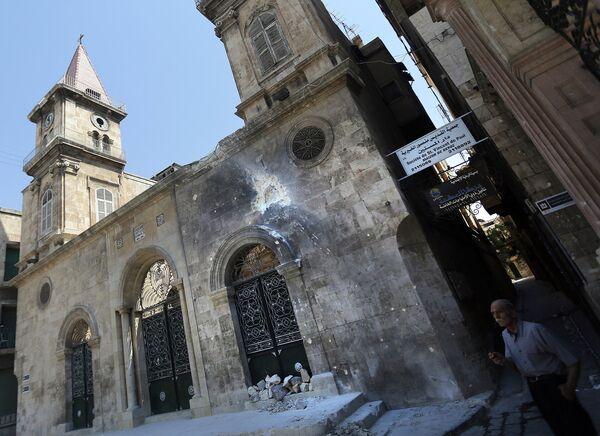 Маронитский собор Святого Илии-пророка в Алеппо. 2012 год