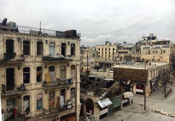 В историческом центре (Старом городе) в Алеппо