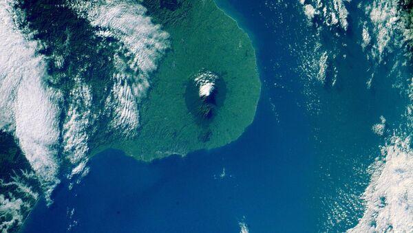 Вид на Новую Зеландию снятый с Международной космической станции. Архивное фото