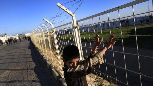 Лагерь беженцев на границе с Сирией. Архивное фото.