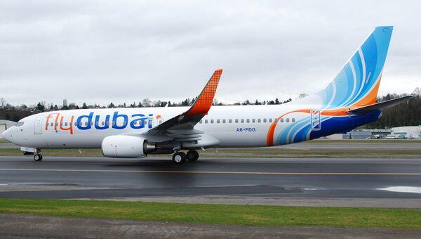 Пассажирский самолет авиакомпании Fly Dubai. Архивное фото