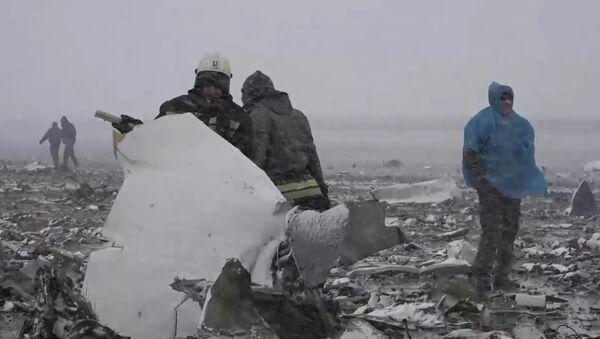 Спасатели собирали засыпанные снегом обломки Boeing 737-800  в Ростове-на-Дону
