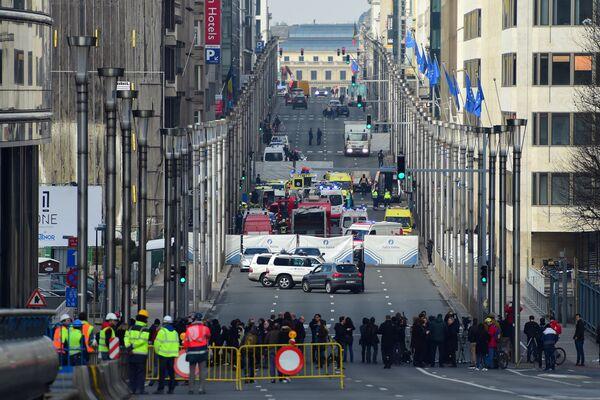 На месте взрыва в метрополитене Брюсселя. 22 марта 2016 год
