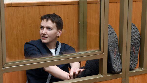 Гражданка Украины Надежда Савченко в суде. Архивное фото