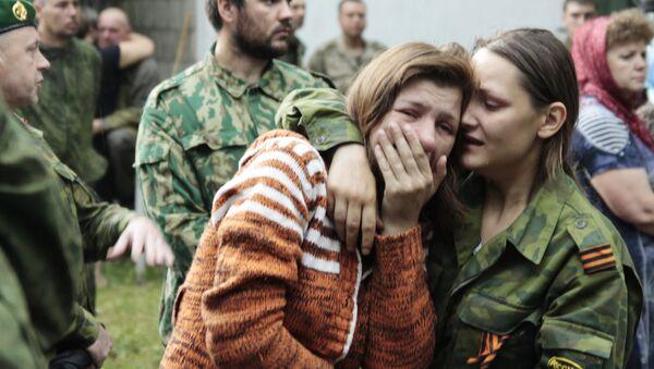 Похороны командира батальона Призрак Алексея Мозгового и его сослуживцев