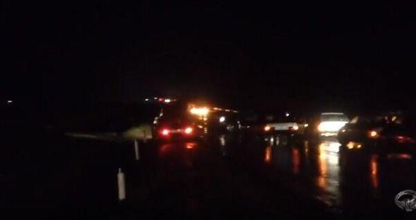 В сети появилось видео с места подрыва автоколонны МВД в Дагестане
