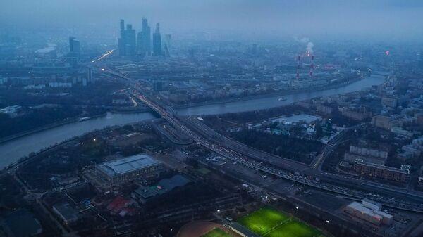 Вид на Москву с высоты птичьего полета. Архивное фото