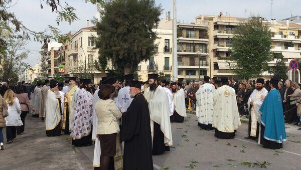 Принесение мощей святителя Луки в Грецию