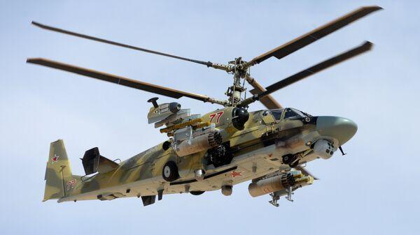 Боевое применение российского вертолета Ка-52 в Сирии. Архивное фото