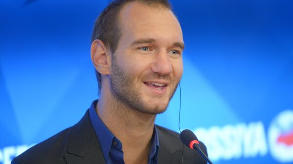 Пресс-конференция мецената, писателя Ника Вуйчича