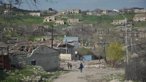 Пограничное село в районе Нагорного Карабаха. Архивное фото