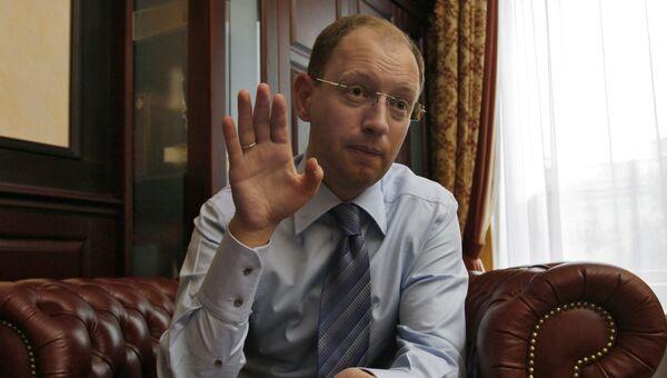 Бывший председатель Верховной Рады Украины Арсений Яценюк. Архивное фото