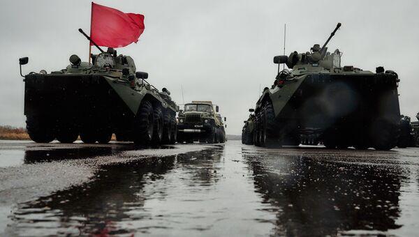 БТР-82А во время тренировки к военному параду, посвященному 71-й годовщине Победы в Великой Отечественной войне