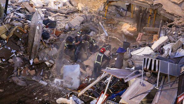 На месте обрушения жилого дома на Тенерифе