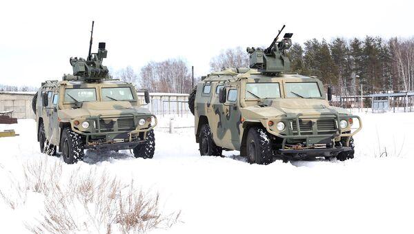 Броневики Тигр с боевыми модулями с дистанционным управлением (БМДУ) Арбалет-ДМ