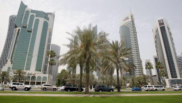 Вид на Доху, Катар.
