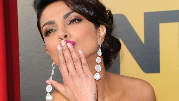 Индийская актриса и модель Приянка Чопра на церемонии вручения премии Гильдии киноактеров