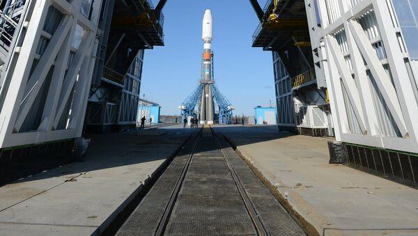 Ракета-носитель Союз-2.1а на космодроме Восточный, архивное фото