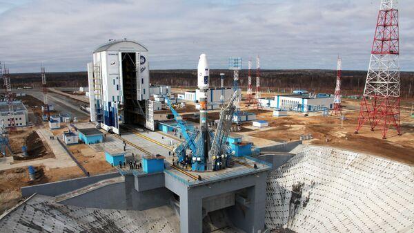 Ракета Союз-2.1а на стартовой площадке космодрома Восточный