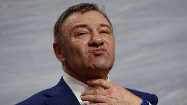 Председатель Правления Федерации хоккея России Аркадий Ротенберг. Архивное фото