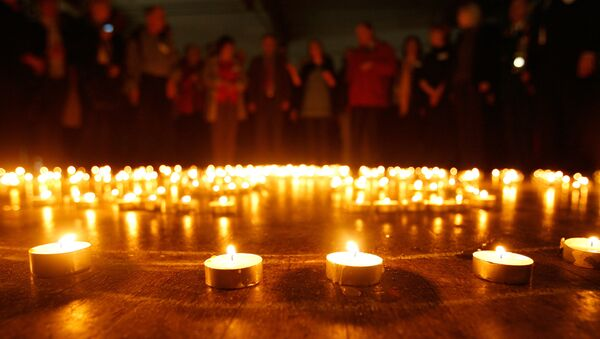 Акция к 25-летию аварии на ЧАЭС Зажжем свечи памяти в Минске