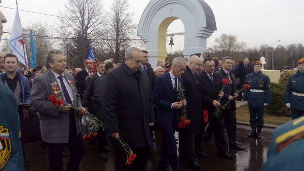 На Митинском кладбище прошел митинг, посвященный 30-й годовщине катастрофы в Чернобыле