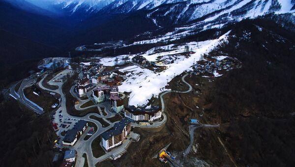 Гостиницы горнолыжного курорта Роза хутор в Адлерском районе города Сочи. Архивное фото