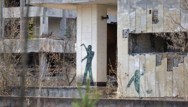 В эвакуированном после аварии на ЧАЭС городе Припять в Чернобыльской Зоне Отчуждения