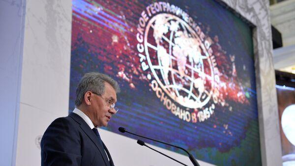 Президент Русского географического общества, министр обороны РФ Сергей Шойгу.Архивное фото