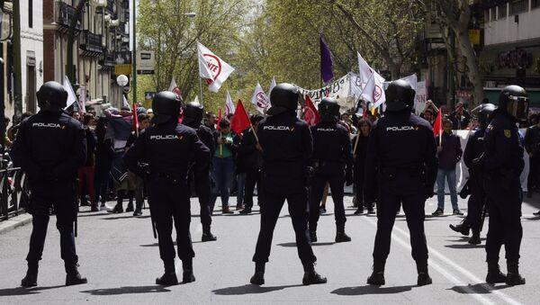 Полицейские в Мадриде, Испания. Архивное фото