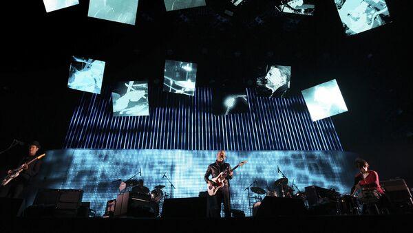 Выступление группы Radiohead на фестивале в Калифорнии