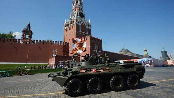 БТР-82А во время военного парада на Красной площади в честь 71-й годовщины Победы в Великой Отечественной войне 1941-1945 годов
